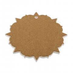 Suport din ceramica pentru vesela - Mandala - Rosu