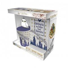 Set cana, insigna, carnet - Harry Potter - Hedwig