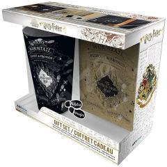 Set cana, insigna, carnet - Harry Potter - Marauder's Map