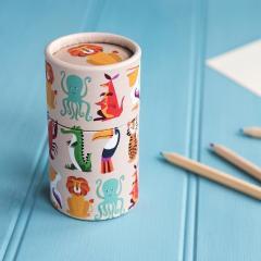 Set de 36 creioane colorate - Animals