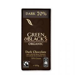 Ciocolata organica neagra 70%