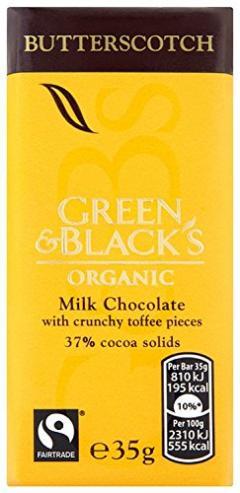 Ciocolata organica cu lapte si Butterscotch