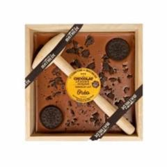 Ciocolata in cutie de lemn cu Oreo
