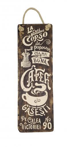 Placuta din lemn - Cafe Corso