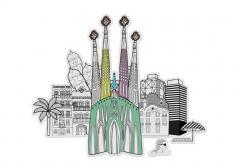 Macheta 3D :Barcelona - Color City