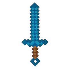 Sabie Minecraft Diamond, Albastru, Diamond Sword, 45 cm