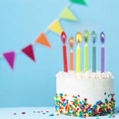 Set lumanari pentru tort - Party Candles With Coloured Flames