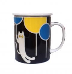 Cana din portelan - Balloon Cat Black