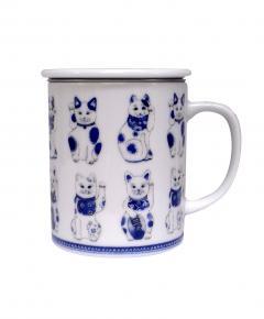 Cana din portelan - White Lucky Cat
