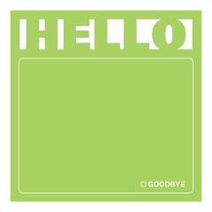 Sticky notes - Hello Diecut