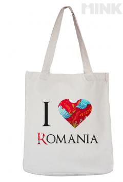 Tote bag - I love Romania