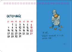 Calendar de birou 2019 - Sherlock Holmes by George Rosu
