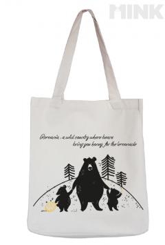 Tote bag - Familia de ursi