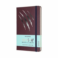 Carnet Moleskine - Beauty and the Beast Limited Edition Beast Scratch Large Ruled Notebook Hard