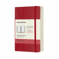 Planner Moleskine 2019 - Daily Pocket Scarlet Soft