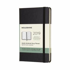 Planner Moleskine 2019 - Weekly Pocket Black Hard