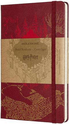 Carnet - Moleskine Harry Potter Map Red Limited Edition