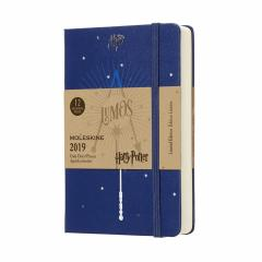 Planner Moleskine 2019 - Daily Poket Blue Harry Potter