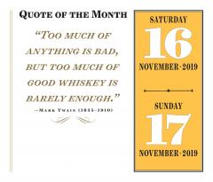 Calendar 2019 - A Year of Good Whisky