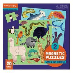 Puzzle magnetic - Land & Sea Animals
