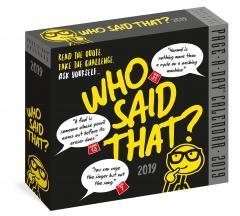 Calendar 2019 - Who Said That?