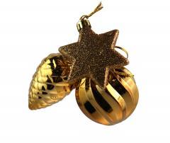 Glob decorativ - Brass Gold Bunch - mai multe modele