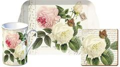 "Set cana, suport pahar si tava - Time for Tea ""Rose Garden """