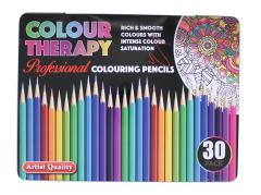 Set 30 creioane colorate -  Colour Therapy