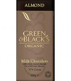 Ciocolata organica cu lapte si migdale