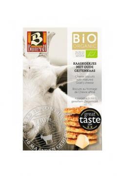 Biscuiti organici cu branza de capra maturata, 75gr