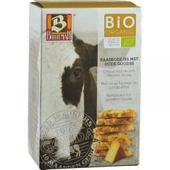 Biscuiti organici cu branza de Gouda maturata, 75 gr, Buiteman