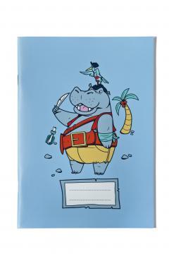 Caiet dictando A5 Hipopotam Pirat - Ioana Sopov