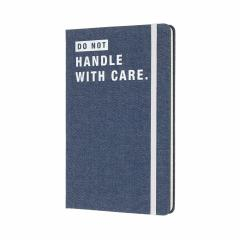 Jurnal Moleskine - Denim Limited Collection, Do Not Handle With Care, Ruled, Largea