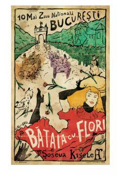Poster inramat - Bataia cu flori