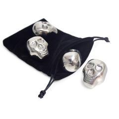 Set 4 cuburi de gheata - Skully metal