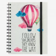 Carnet cu spirala Legami - Follow Your Dream - A5