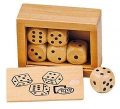 Set zaruri din lemn in cutie