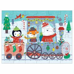 Puzzle - Christmas Train Puzzle to Go