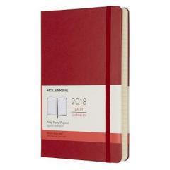 Agenda Moleskine 2018 - Scarlet Red Large Daily Hard