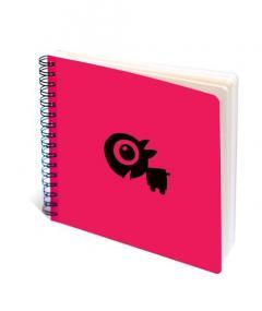 Sketchbook Pisica Patrata - Pisica roz