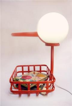 Book Stork Lamp de Cristina Bulat - Tangerine