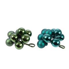 Decoratiune pentru brad - Baubles on wire Green - mai multe culori