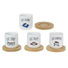 Set 4 cesti - Coffee Cups Tasses