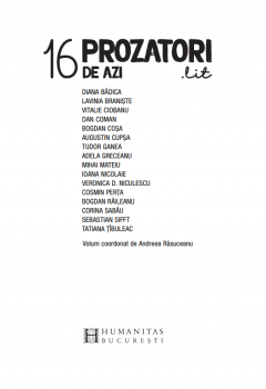 16 prozatori de azi.lit