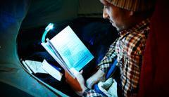 Moleskine - lampa pentru citit. Cadmium Orange