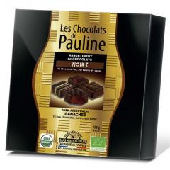 Bomboane de ciocolata neagra - Coffret 16 ganaches noir