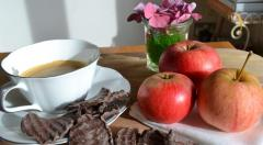 Fulgi de ciocolata - Dark Chocolate Apple Thins