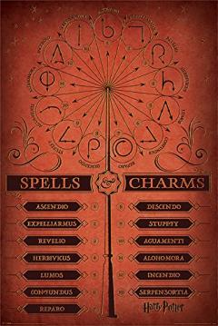 Poster Maxi -Spells and Charms - Harry Potter