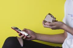 Boxa portabila - Geo Speaker (Auriu-Alb)