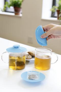Capac din silicon 4 in 1 pentru cana de ceai